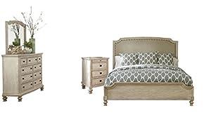 Amazon Com Ashley B693 Demarlos 4 Pc King Bedroom Set