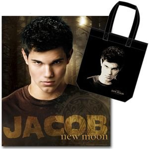 Twilight Saga New Moon Jacob and Tattoo fleece blanket and tote bag set ()