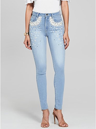 GUESS by Marciano Women's Stiletto Embellished Skinny (Guess Indigo Jeans)