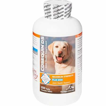 Cosequin DS Plus MSM Maximum Strength Chewable Tablets (250 Count) (Tablets 180 Dogs)