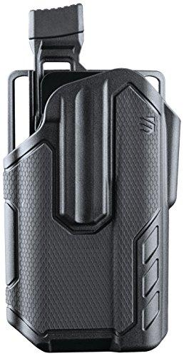 Semi Finish Black 9mm Automatic (BLACKHAWK! Omnivore MultiFit Surefire X300U-A Light Bearing Holster, Left, Black, One Size)