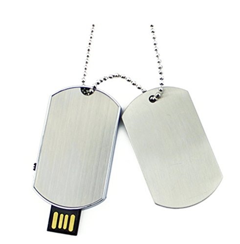 Aneew Metal Pendrive 32GB U Disk Dog Tag Necklace USB Flash Drive (Usb Flash Drive Necklace)