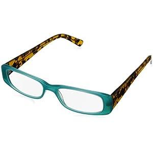 A.J. Morgan Women's Tammy Rectangular Reading Glasses, Turquoise & Tortoise, 1