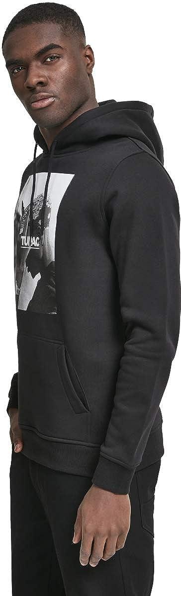 dise/ño de 2Pac Color Negro Mister Tee Sudadera con Capucha de la Marca