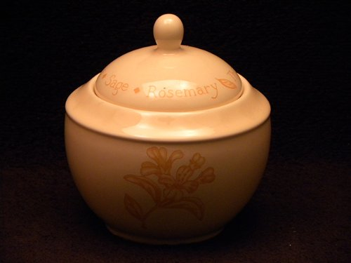 Royal Worcester Herb Garden Yellow Glaze Covered ()