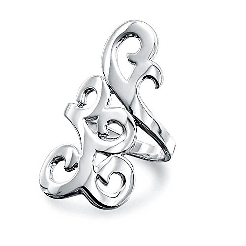 silver scroll ring - 9