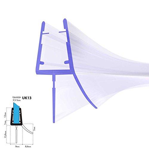 80cm UK13 -- Duschdichtung ABGERUNDET Runddusche Viertelkreisdusche Rundbogen für 3,5mm/ 4mm/ 5mm Glasdicke Runddichtung Ersatzdichtung vorgebogen KREIS rund
