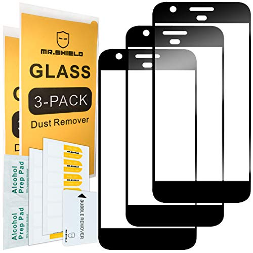 [3-Pack]-Mr.Shield for Google Pixel XL [Japan Tempered Glass] [9H Hardness] [Full Cover] Screen Protector with Lifetime Replacement
