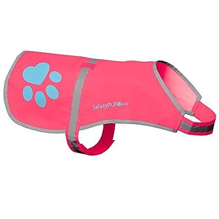 SafetyPUP XD Perro Chaleco Reflectante Tama/ños para Adaptarse a los Perros 14 Libras a 130 Libras Rosa Peque/ño