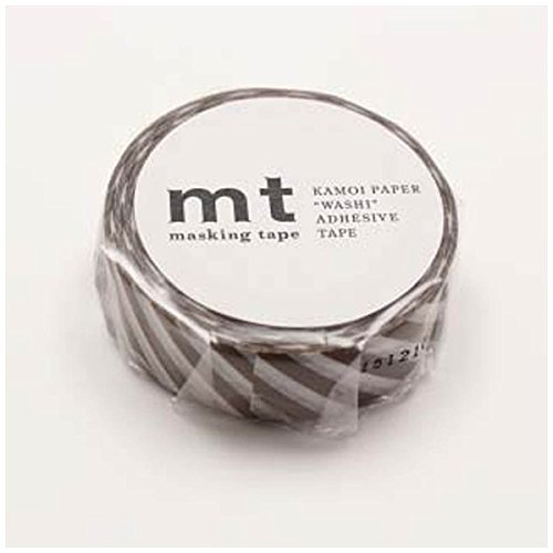 MT Washi Masking Tape, 1P DECO, Stripe Almond, 15mm x 10m...