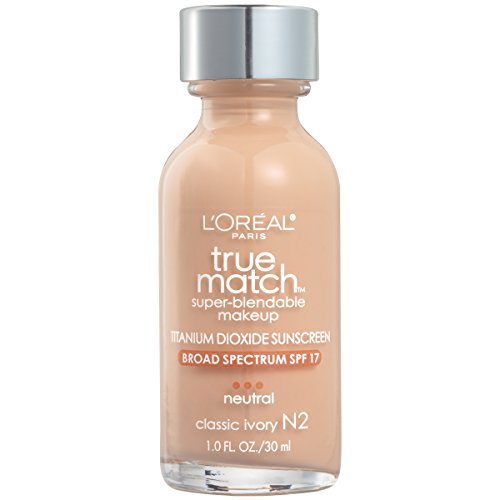 L'Oreal Paris Makeup True Match Super-Blendable Liquid Foundation, Classic Ivory N2, 1 fl. oz.