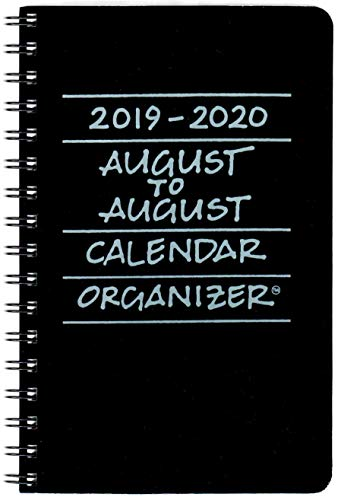 2019-2020 August to August Calendar Organizer- Licorice (Black)