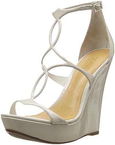 Schutz Women's Sevil Wedge Sandal, Pearl, 8.5 M US by Schutz