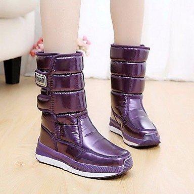 Botas de la mujer confort PU Suede Tulle invierno primavera confort informal plana púrpura Purple