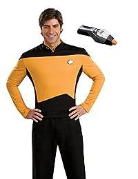 Rubie's Men's Star Trek TNG Deluxe Operations Uniform Costume & Phaser