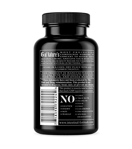 Gut Lining Repair Supplement GLR-6 by Intestinal Fortitude with L Glutamine Slippery Elm Marshmallow Root DGL Licorice Fenugreek N Acetyl D Glucosamine Gut Health Leaky Gut Inflammatory Bowel IBD IBS