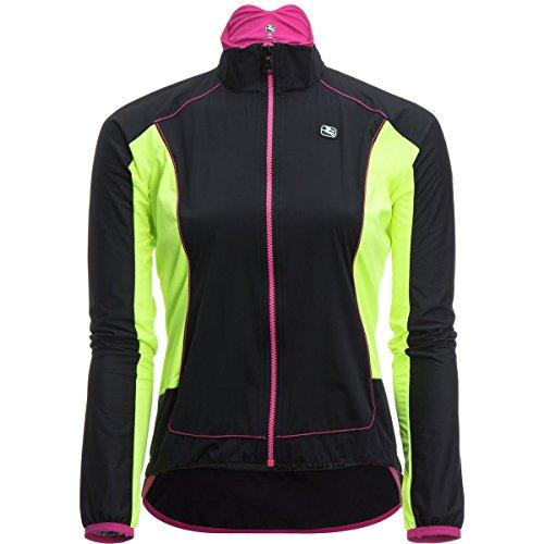 Giordana 2017/18 Women's Aqua Vento 100 Cycling Jacket - GICW16-WJCK-A100 (Black/Yellow Fluo - (Giordana Cycling Jacket)