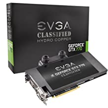Evga Geforce Gtx 770 4Gb 4096Mb 1Gb Gddr5 256 Bit Displayport Hdmi D-I/D-D Classified Hydro Copper Graphics Card 04G-P4-3779-Kr