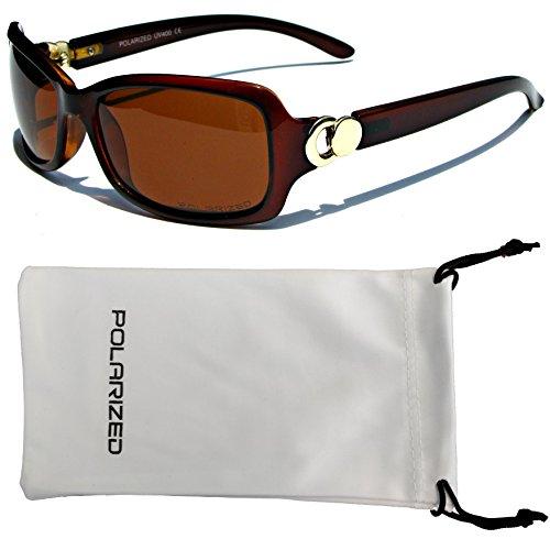 de sol clásico marrón moda de mujeres gafas polarizado diseñador gafas Chic VOX q0t6gf