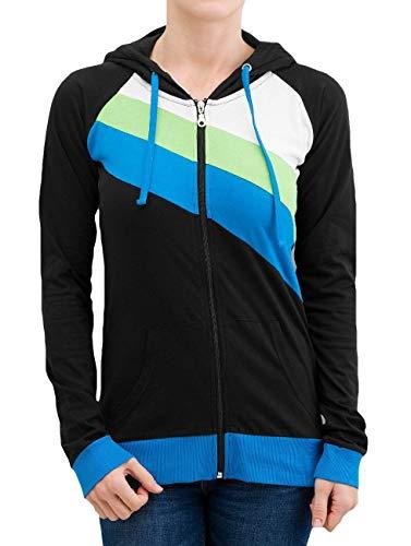 rasta Hoodie Nero102610 3 Ladies Urban Donna Nero Classics Zip Jogging color Felpa Ib76yYmfgv