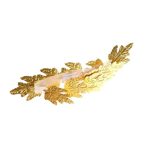 Dovewill Golden Leaf Roman Greek Goddess Laurel Wreath Fancy Dress Stage Costume Headband Head Decor Accessory ()