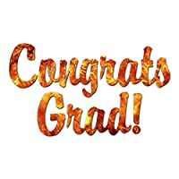 Congrats Grad Graduation - Vinyl Decal Sticker - 6