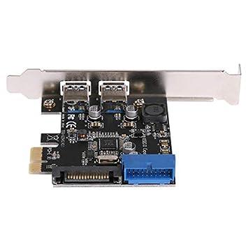 REFURBISHHOUSE 2 Puertos USB 3.0 Pci-E Tarjeta De Expansión ...
