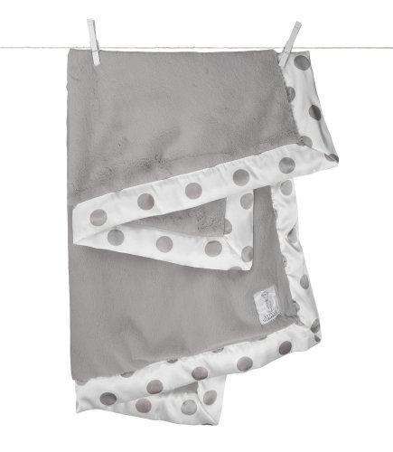 Little Giraffe New Dot Luxe Blanket - Silver