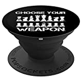 Choose Your Weapon Chess Piece Checkmate Pop Socket Grip - PopSockets Grip and Stand for Phones and Tablets