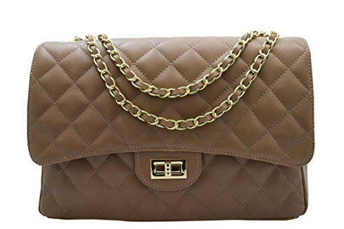 LEATHER taupe GRAND BAG LEATHER BAG MODEL FwSO4