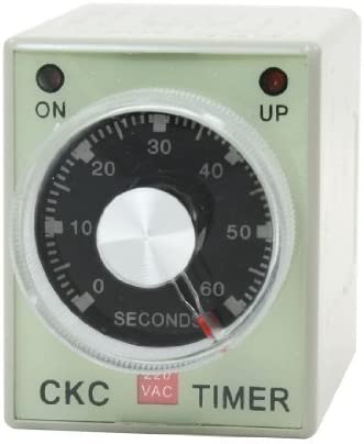 Baomain AC 220V 8 Pin DPDT 2S 2Ö 0-60 Second Time Delay Relay Timer AH3-3