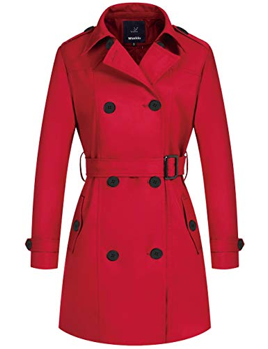 Wantdo Women's Double-Breasted Trench