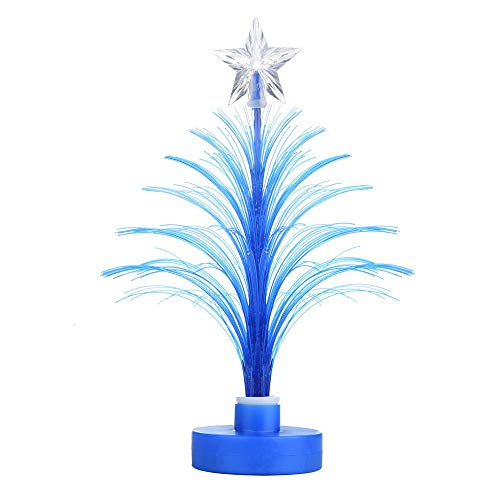 Kingko  LED Mini Fiber Seasonal Decorating Christmas Tree with Top Star - Battery Powered - ON/OFF Switch Control (Blue)