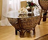 Tropical Rattan and Wicker Round Coffee Table with Glass Top – Maui from Seawinds Trading Review