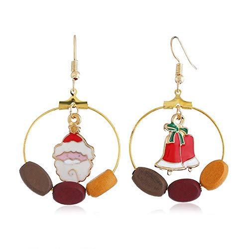 Womens Girls Cute Christmas Drop Dangle Earrings Christmas Ornament Wreath Red Bow Poinsettia Post Stud Earrings
