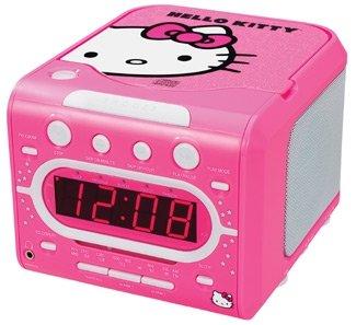 HELLO KITTY KT2053 AM/FM Stereo Alarm Clock Radio with Top Loading CD Player (Hello Kitty Stereo Radio Am Fm Cd)