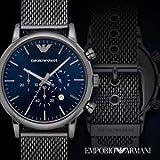 0d394048240a Emporio Armani Hombre AR1979 cronógrafo dial de Reloj Color Grafito  Interior Azul Original con Certificado Excelente