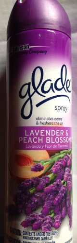 Glade Air Freshener Spray - Lavender & Peach Blossom - 8 oz. Pack of 2
