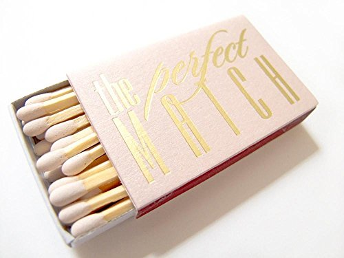 The Perfect Match Matchboxes - Personalized Wedding Favor Matches - Carrie (Wedding Matchbox)