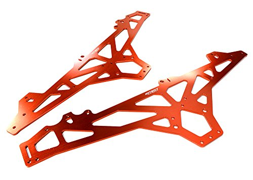 Integy RC Model Hop-ups C26394RED Billet Machined Main Chassis for HPI 1/10 Scale Crawler King Hpi Main Chassis