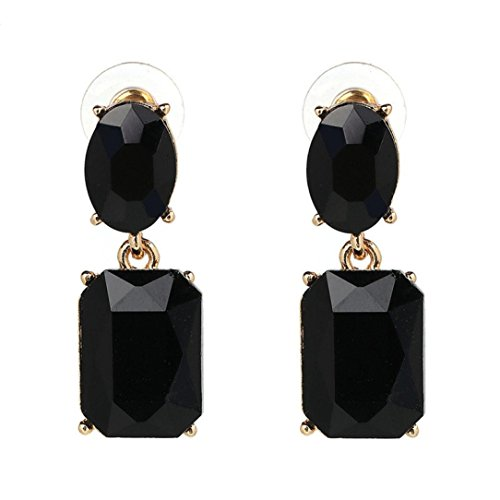 Iuhan New Women Girl's Crystal Pendant Long Rhinestone Stud Ear Drop Dangling Fashion Party Dress Earrings (A, (14k Sun Hoop)