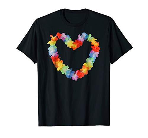 Cool Hawaii flower lei Heart Aloha shirt aloha t shirt