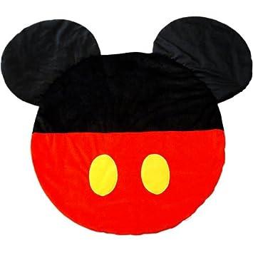 【予約】Disney ディズニー ミッキーマウス シルエット BIG マット 滑り止め付き ブラック 黒 レッド