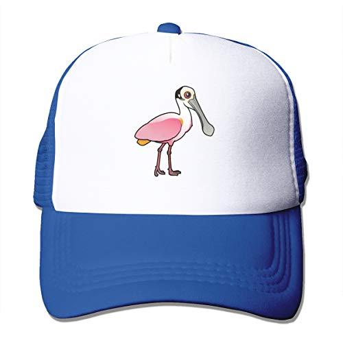 (AiguanCute Roseate Spoonbill Sun Protection Adjustable Caps Cooling Mesh Hat Blue)
