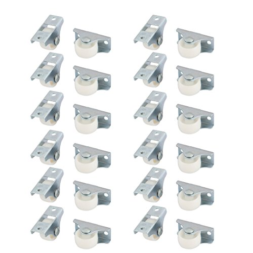 uxcell Plastic Family Office Furniture Closet Chair Swivel Caster Wheel 24 Pcs White by uxcell