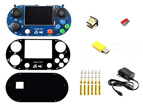 waveshare Raspberry Pi Accessories Pack (Type G) Including 3.5inch IPS Screen 480×320 Resolution Game HAT Micro SD Card Power Adapter