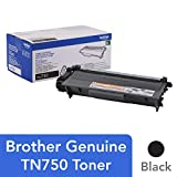 Brother Genuine High Yield Toner Cartridge, TN750, Replacement Black Toner, Page Yield Up