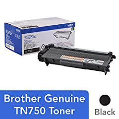 The use of Brother Genuine replacement high-yield toner cartridges like the TN-750 not only produces sharp, black and white pages with the quality you expect from Brother products – it also increases productivity and can reduce downtime when ...