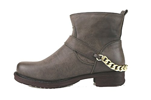 Leather 35 US EU Boots Woman 5 Brown FRANCESCO MILANO Ankle UIq7hZR