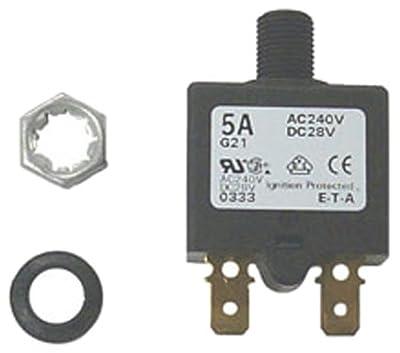 Sierra International CB41200 5 Amp Marine Resettable Circuit Breaker